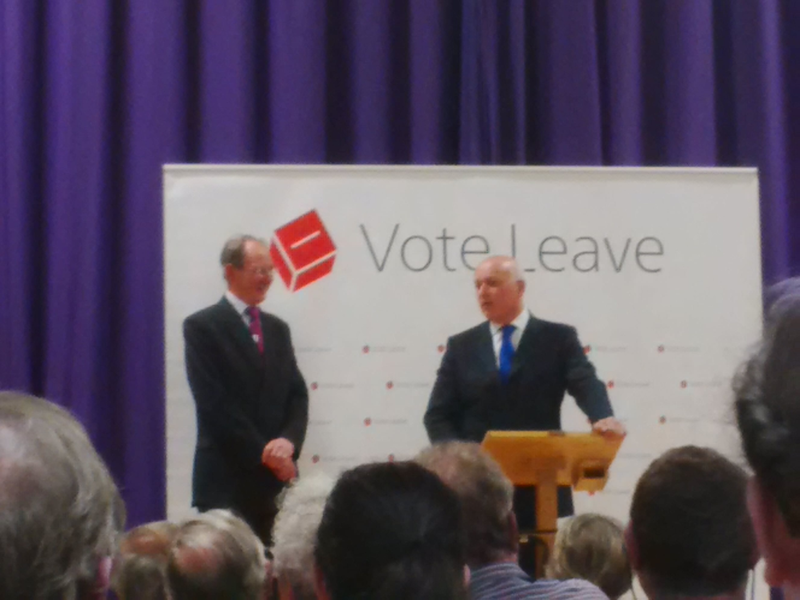 Vote Leave Rally, Newport, IW. 20th May 2016 Iain Duncan Smith MP and Andrew Turner MP