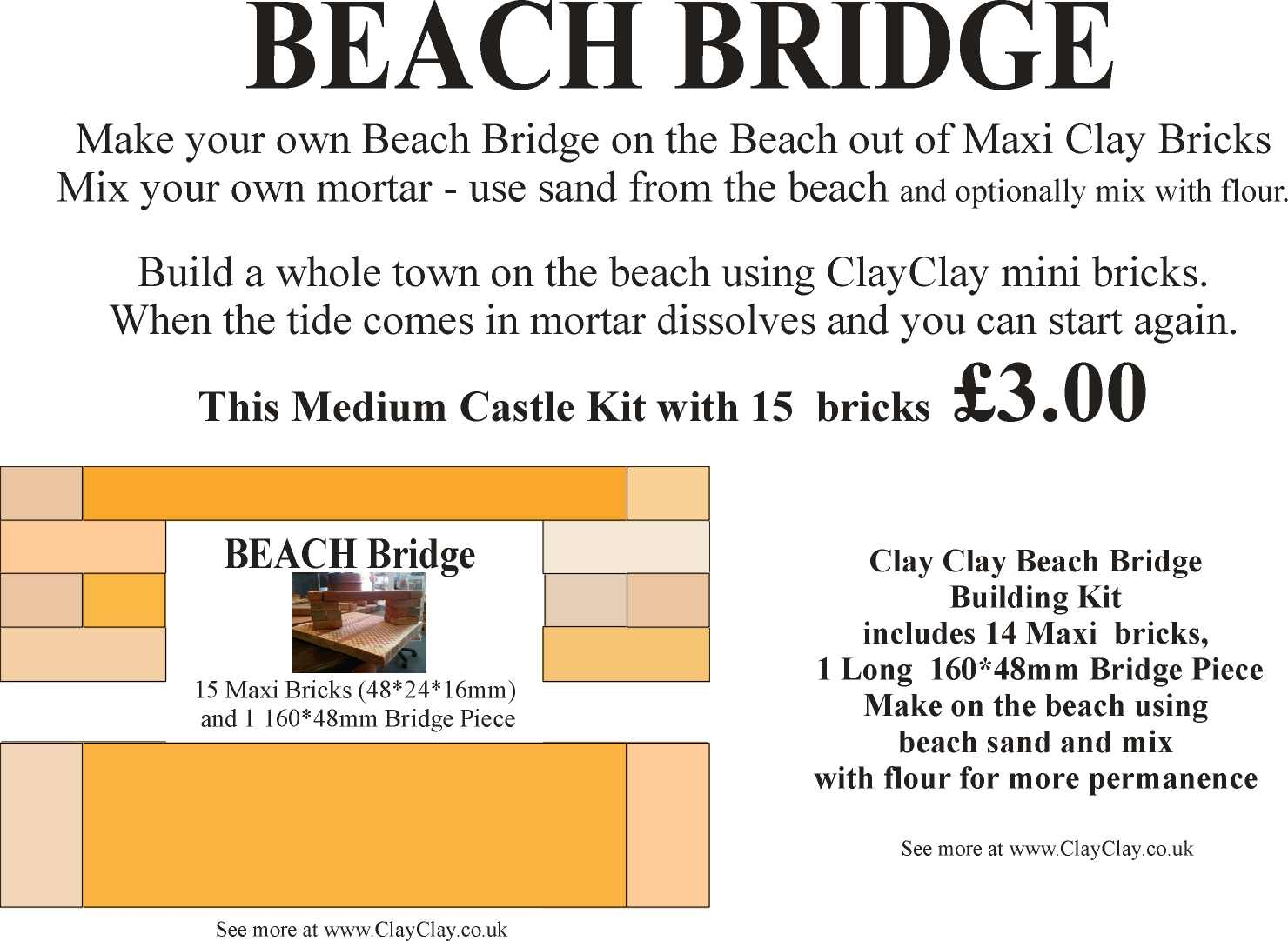 Beach Bridge Kit Maxi Bricks.
