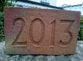 2012 Date Brick. Indented numbering and out dented numbering