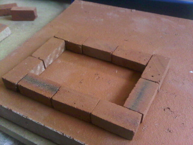 Small Georgian House. Clay Clay Miniature Brick Building Kit