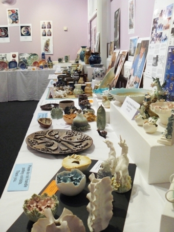 Isle of Wight Pottery. Andrew and Lisa Dowden at their recent Ventnor exhibition