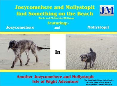 Now available on Kindle. Joeycomehere and Mollystopit find something on the beach. Part of a series of Wight Adventures written by BB Bango and published by ClayClay. Copies of book in A5 format available direct from the ClayClay Shop  This 1st book  is also a music video on Vimeo .com