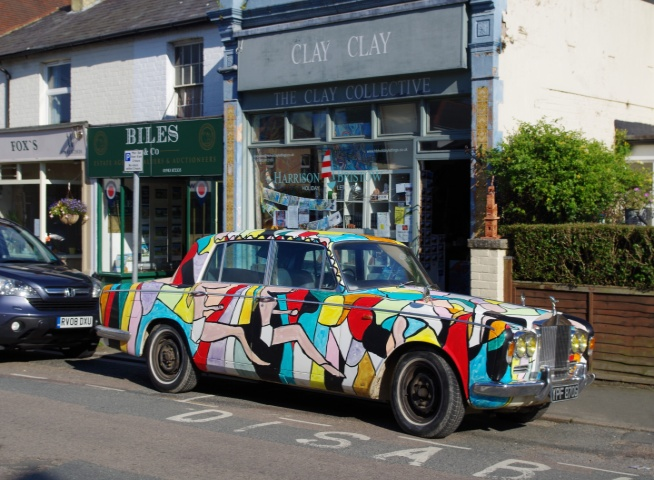 ArtCar Rolls-Royce Silver Shadow 1969. Painting by BB Bango