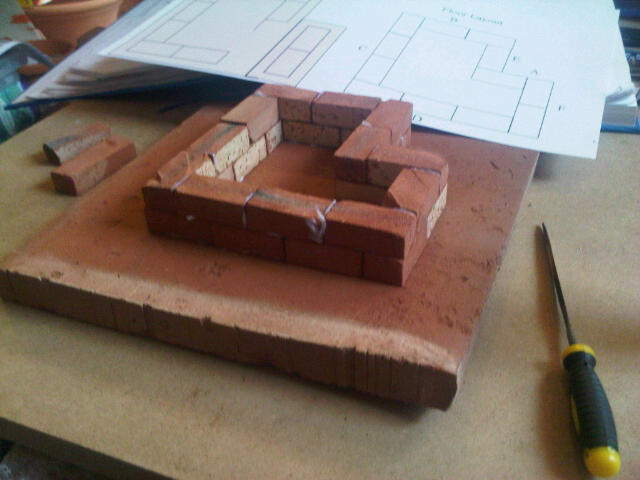 Small Albert Barracks. Clay Clay Miniature Brick Building Kit