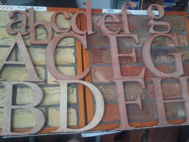 Clay Clay Terracotta Lettering