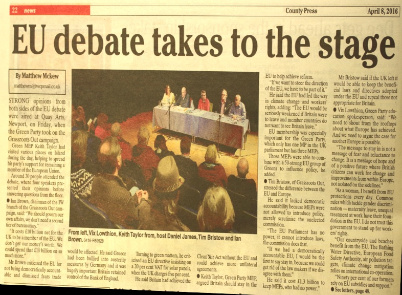 EU Debate Newport Quay Arts April 1st 2016