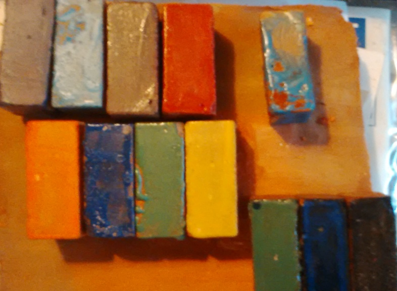 Glazing of mini bricks - multi colours Maxi size 30 p each