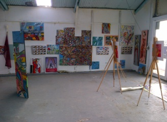 Big Art All Summer Exhbition is at Wight Marine, Embankment Rd, Bembridge, Isle of Wight. Picture taken 11th June 2015. Gallery is forwever being altered throughout the summer with new artworks, an ArtCar and new artists