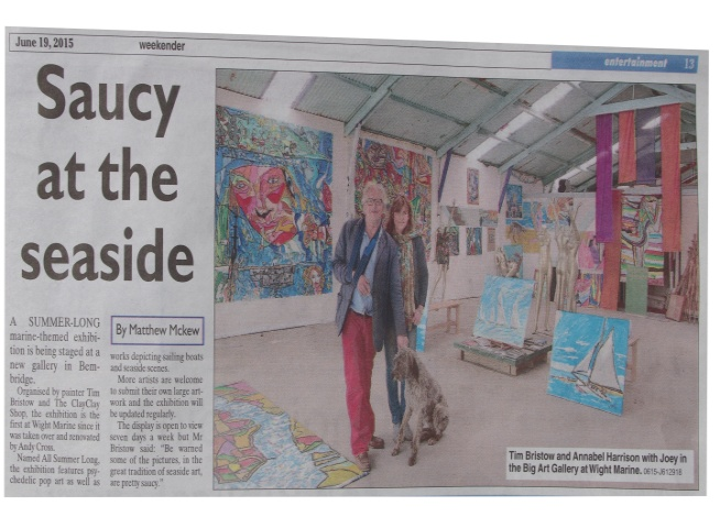 Isle of Wight County Press Article 19 th June 2015