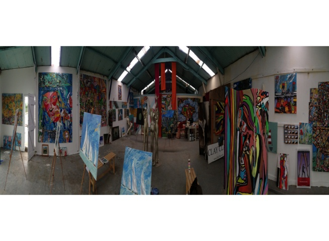 Panorama Big Art All Summer Exhbition is at Wight Marine, Embankment Rd, Bembridge, Isle of Wight. PO35 Picture taken 20th June 2015. Gallery is forever being altered throughout the summer with new artworks, an ArtCar and new artists ,
