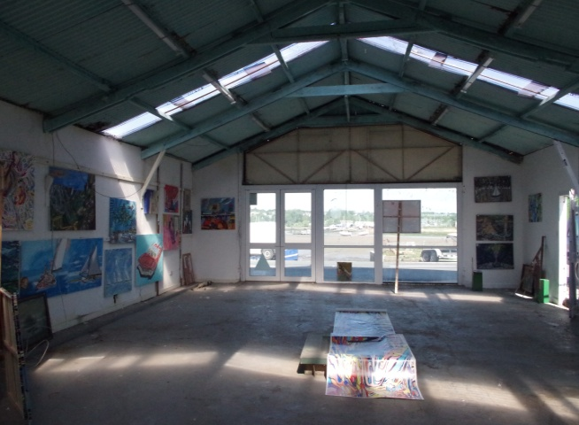 Big Art All Summer Exhbition is at Wight Marine, Embankment Rd, Bembridge, Isle of Wight. PO35 Picture taken 23rd May 2015. Gallery is forever being altered throughout the summer with new artworks, an ArtCar and new artists