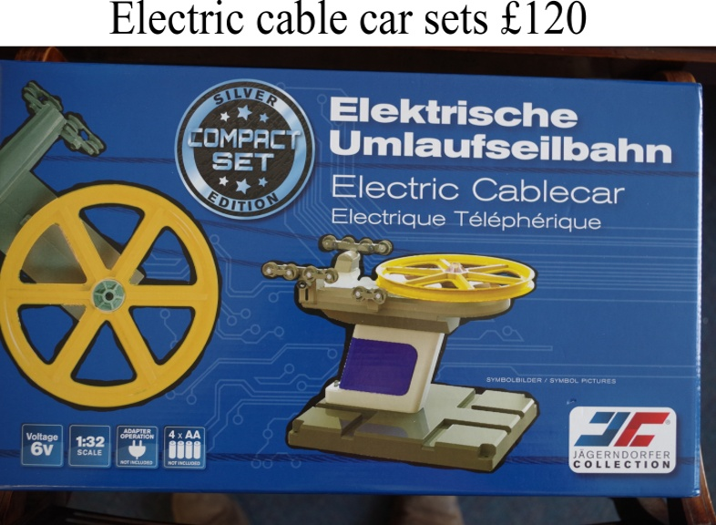 Electric Cable Car sets including chairlift and cabin and 10m of cable. £120 Direct from ClayClay Shop
