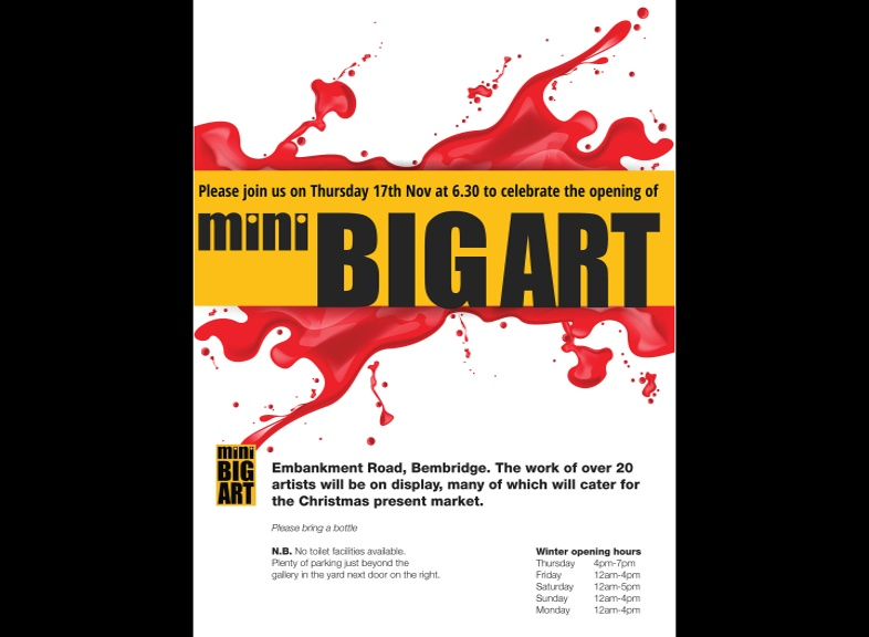 Mini Big Art Gallery and workshop Bembridge Harbour IW October 2016. Open all of 2017