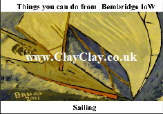 'Big Sailing' 'Things you can't and can do in Bembridge' Postcard based on original painting by BB Bango