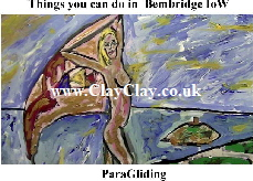 'ParaGliding' 'Things you can't and can do in Bembridge, IW' Postcard based on original painting by BB Bango