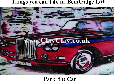 'Park your Car' 'Things you can't and can do in Bembridge IW' Postcard based on original painting by BB Bango