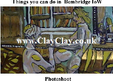 'PhotoShoot' 'Things you can't and can do in Bembridge, IW' Postcard based on original painting by BB Bango