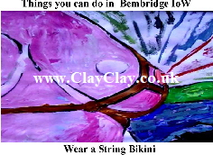'Wear a String Bikini' 'Things you can't and can do in Bembridge IW' Postcard based on original painting by BB Bango