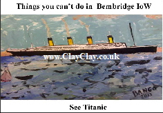 'Titanic' 'Things you can't and can do in Bembridge IW' Postcard based on original painting by BB Bango