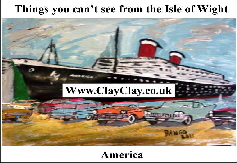 'America' 'Things you can't and can do in Bembridge IW' Postcard based on original painting by BB Bango