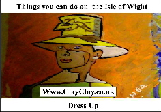 'Dress Up' 'Things you can't and can do in  IW' Postcard based on original painting by BB Bango