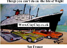 'See France' 'Things you can't and can do in  IW' Postcard based on original painting by BB Bango