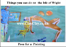 'Pose for a Painting 'Things you can't and can do in  Bembridge, IW' Postcard based on original painting by BB Bango