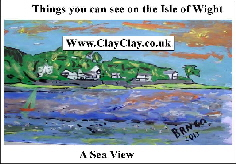 'Sea View in IW' 'Things you can't and can do in  Seaview, IW' Postcard based on original painting by BB Bango