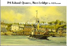 'Island Queen' Postcard Based on original watercolour by M Pearson . Original painting on display in ClayClay Shop