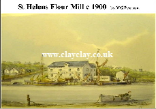 'St Helens Flour Mill' Postcard Based on original watercolour by M Pearson . Original painting on display in ClayClay Shop