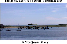 'Things you can and can't see Queen Mary off St Helens' Postcard