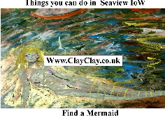 'Find a Mermaid' 'Things you can't and can do in Seaview IW' Postcard based on original painting by BB Bango
