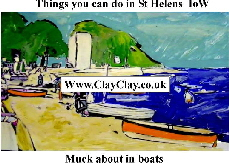 'Muck about in boats' 'Things you can't and can do in St Helens IW' Postcard based on original painting by BB Bango