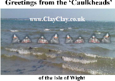 'Caulkheads (Soldiers floating in sea as tide comes up to escape French invasion. - Corkheads) based on local IW Legend