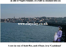 'Caulkheads (Baby off end of Ryde Pier to see if floats - Corkhead) based on local IW Legends