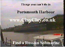 'Find a Russian Submarine' 'Things you can't and can do in Portsmouth' Postcard based on original painting by BB Bango