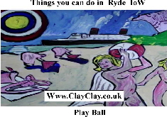 'Play Ball' 'Things you can't and can do in Ryde' Postcard based on original painting by BB Bango