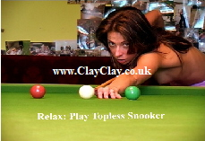'Relax, Play Topless Snooker'