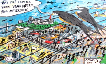 "'Birds at the Seaside' by  BB Bango Acrylic 24*18""  on canvas board £75. On display Bembridge Shop"