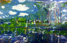 'Reflections' Based on original painting by BB Monet Bango