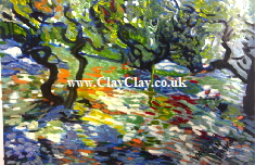 'Olive Trees' Based on original painting by Vincent Van Bango