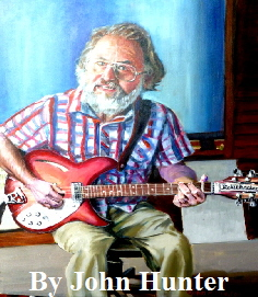 "John Hunter Portrait Artist In oil (like this one of a local Wight musician) Typically 20 by 24"" £400. Based on one or two sittings in Bembridge IW"