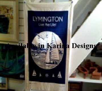 Original Lymington and New Forest Tea towels (60*40cm) and fabric bags by Brand Bamboo. On display Lymington Shop