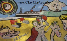 "'Ryde Beach' Based on painting by Pablo Bango. Original Painting 20*16"" on canvas board"