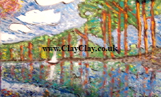 "'Tall Trees' Based on painting by Monet Bango. Original Painting 20*16"" on canvas board"
