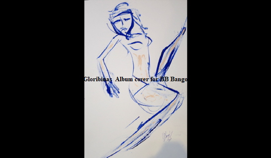 BB Bango music album now on spotify etc uses this image for the album cover search term 'Gloribinas' to find on Google. 'Blue Streak' Acrylic on paper A3 size by BB Bango   . Used as Cover album art for Goribinas Tract Muzak album by BB Bango and performed by The EspadaRolls Band