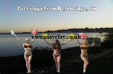 BC2 'Greetings from Isle of Wight Views' Saucy Brikini postcard Bembridge Harbour