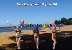 BC6 'Greetings from Isle of Wight Views' Saucy Brikini postcard Ryde