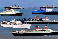 'Things you can't see in the Solent - SS United States, SS America, MV Canberra. RMS Queen Mary, RMS Queen Elizabeth, SS France,QE2' Postcard