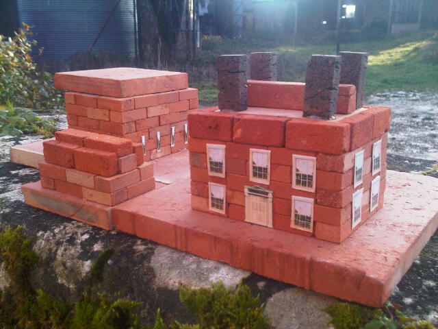 Small Brick Building Kits in Clay Clay Shop Windoway Clay Miniature Brick Building Kit